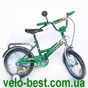 Орленок зеленый - 16 дюймовый двухколесный детский велосипед