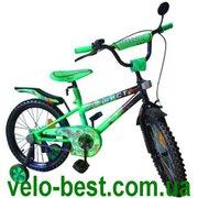 Аист салатовый - 16 дюймовый двухколесный детский велосипед