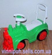 Продаем детскую каталку - толокар  Паровозик 761 Орион (зеленый,  красн
